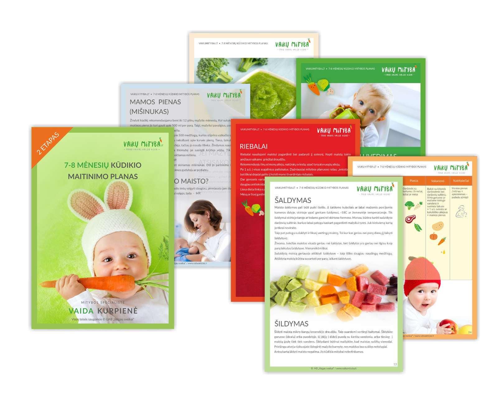 7-8 mėnesių kūdikio maitinimo planas PDF formatu [2 etapas]