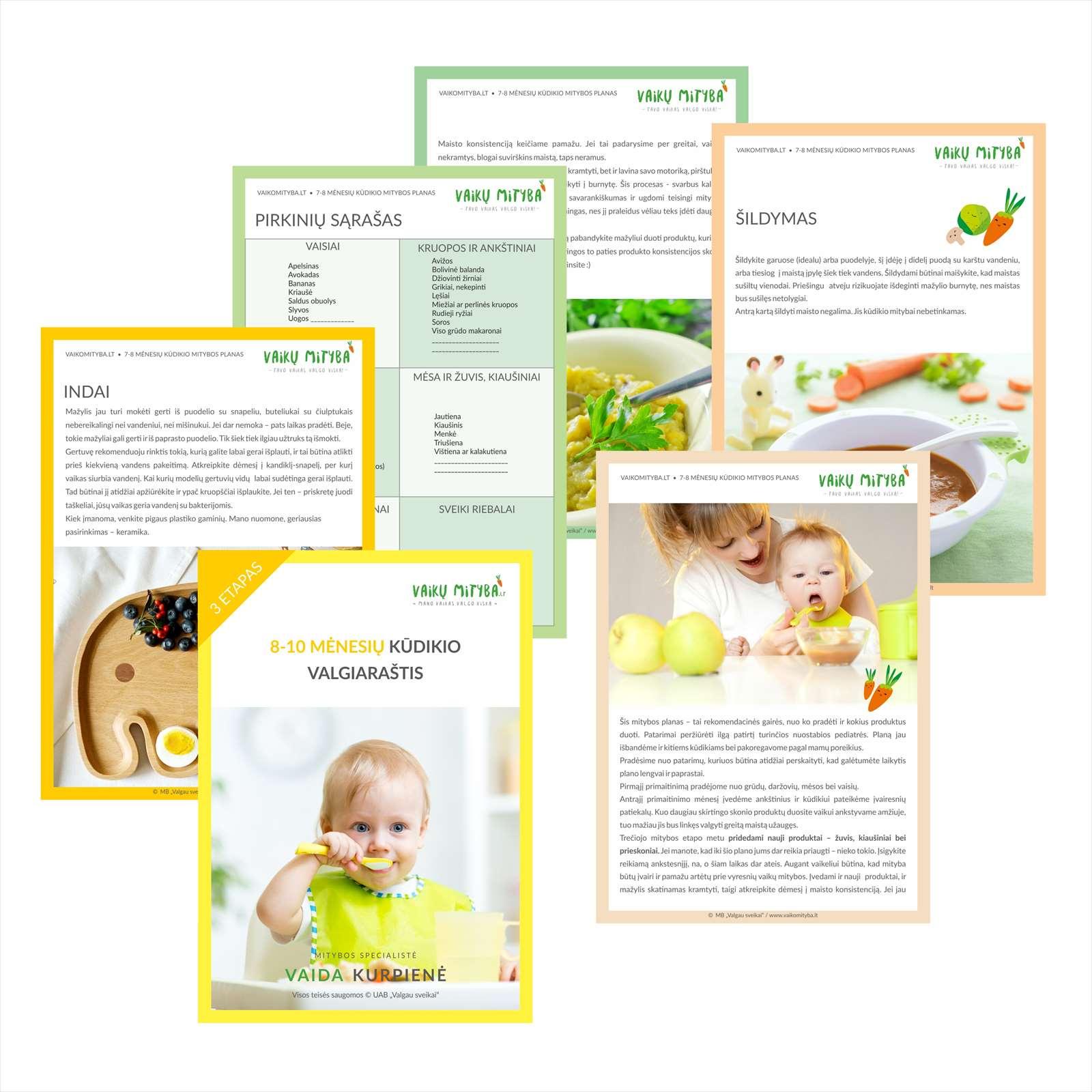 8-10 mėnesių kūdikio valgiaraštis [3 etapas] - vaikumityba.lt
