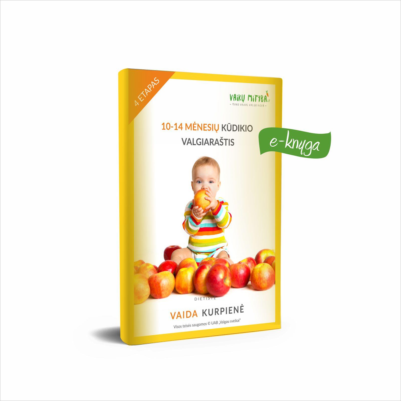 10-14 mėnesių kūdikio valgiaraštis